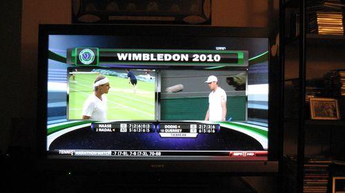 Wimbledon double screen