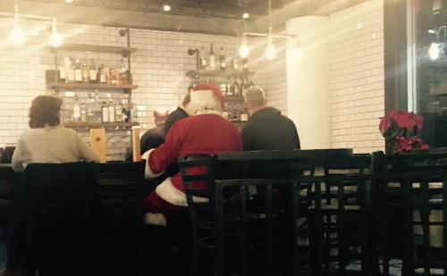 Santa at Gracie's